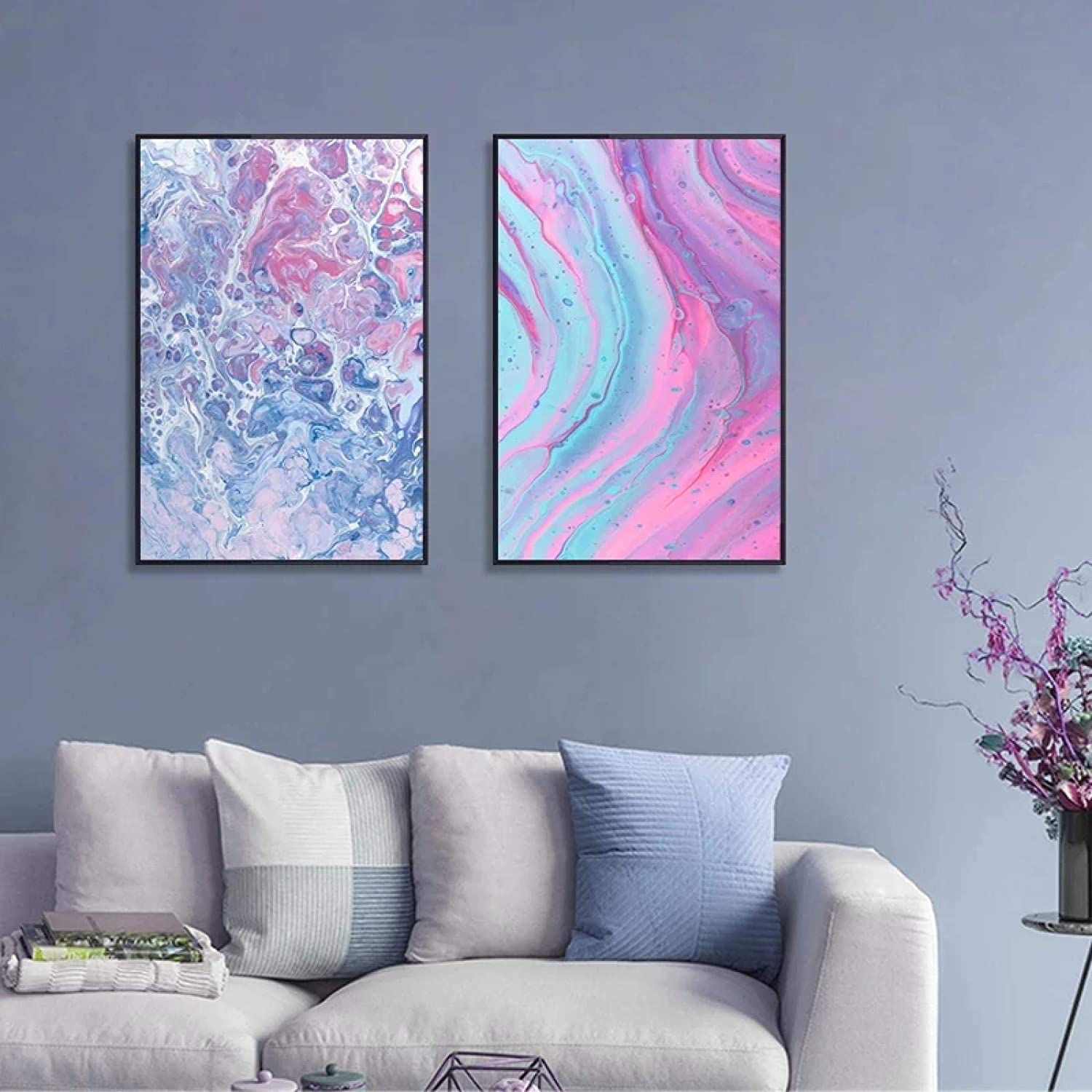 Geometric Canvas Modern Nordic Abstract Marble W Flower Colorful Sale Max 63% OFF special price