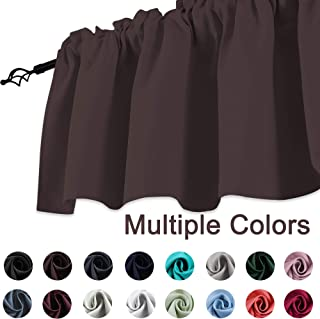 KEQIAOSUOCAI Brown Coffee Window Valances 18 Inch Curtains Valance for Bedroom Living Room