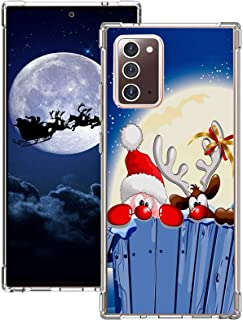 Note 20 Case Compatible with Samsung Galaxy Note 20 5G Case Silicone Bumper Shockproof Scratch Resistant Cases Christmas S...