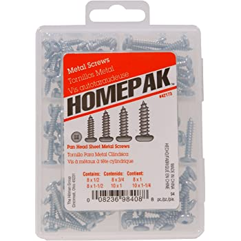 #8-15 Thread Size 7//8 Length Black Oxide Finish Type A Steel Sheet Metal Screw Square Drive Pack of 100 Pan Head