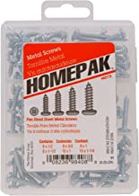 HOMEPAK 42173 Pan Head Square Drive Sheet Metal Screws