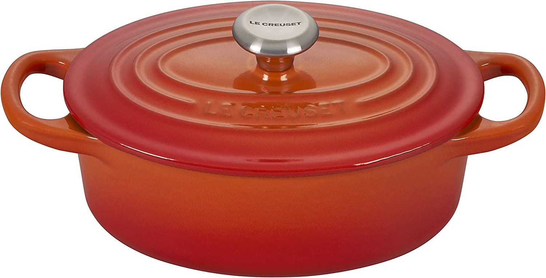 Le Creuset Enameled Cast Iron Signature Dutch 1 Oval Overseas parallel import regular item Boston Mall qt. Oven
