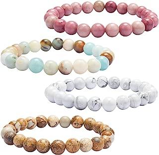 YISSION Lava Rock Stone Bracelet Natural Semi Precious Gemstone Beads