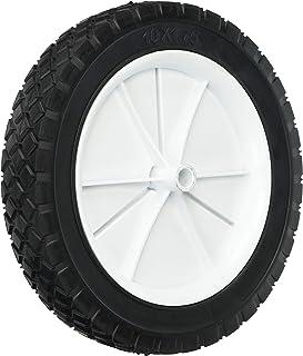 Shepherd Hardware 9615 10-Inch Semi-Pneumatic Rubber Replacement Tire, Plastic Wheel,..
