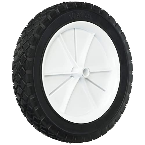 Shepherd Hardware 9615 10-Inch Semi-Pneumatic Rubber Replacement Tire, Plastic Wheel,