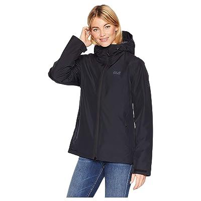 Jack Wolfskin Chilly Morning Waterproof Jacket (Black) Women