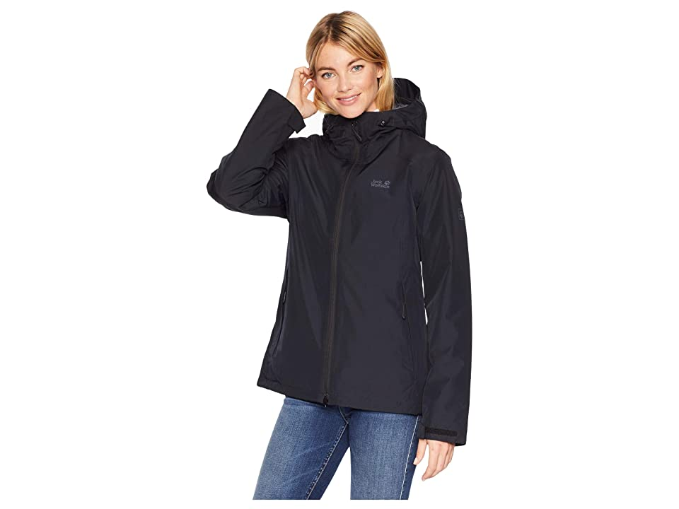 Jack Wolfskin Chilly Morning Waterproof Jacket (Black) Women