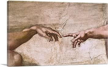 michelangelo's god and adam hands