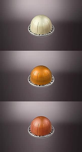 Nespresso Vertuoline Flavored Assortment 1 Sleeve Of Each Vanizio Caramelizio Hazelino Total Of 30 Capsules
