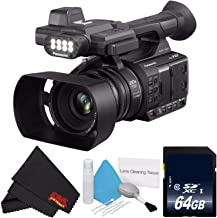 Panasonic AG-AC30 Full HD Camcorder with Touch Panel LCD Viewscreen AG-AC30PJ + 64GB Memory Card + Microfiber Cloth + Deluxe Cleaning Kit Bundle