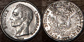 1929 - Venezuela 1929 Bolivar Silver Extra Fine + 1 Bolivar Seller Extra Fine +
