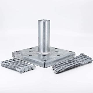 Titan Building Products - 4x4 Wood Post Anchor Kit - TIPRG441 - Galvanized - Fasteners included - 3.5