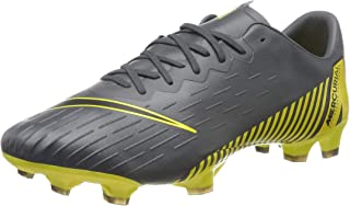 Nike Men's Vapor 12 Pro FG Soccer Cleats (Dark Grey/Black/Yellow)