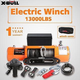 X-BULL Cabrestante eléctrico 12v 5900Kg 13000Lbs Winch Cuerda Sintético 4x4/recuperación Ina …