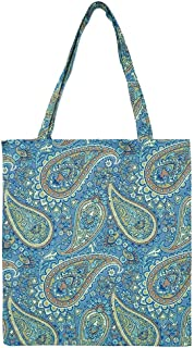 Signare Tapestry Reusable Grocery Eco Friendly Shopping Tote Bag in Fashion Pattern Design (Paisley)