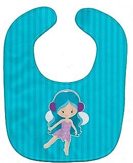 Caroline's Treasures Blue Haired Fairy Baby Bib, Blue, Large
