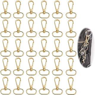 Metalen karabijnhaak met D ring 30 stuks D ring sleutelhanger 25 mm karabijnhaak Draaibare karabijnhaak Zinklegering Tas G...
