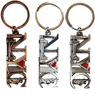12PCS New York NYC Letter Keychain Metal Key Ring Souvenir Christmas Gift Statue Liberty Brooklyn Bridge Empire Building Flatiron