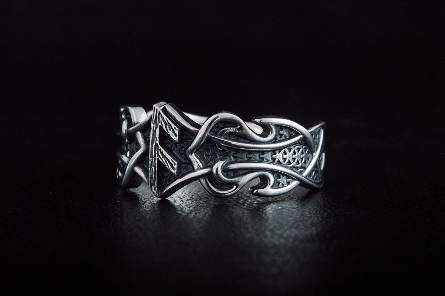 Ring Max 78% OFF with Ansuz Rune and Norse Silver Viking Ornament J Ranking TOP20 Sterling