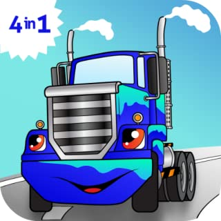 Cool Car truck games for kids free activity app