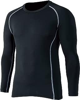 おたふく手袋 ボディータフネス 保温 コンプレッション パワーストレッチ 長袖 クルーネックシャツ JW-174 ブラック LL