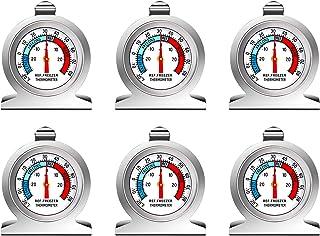 Thlevel Rostfritt Stål Kyltermometer Frys Och Kyl Termometer med Hängande Krok för Hem, Restauranger, Barer (6pcs)