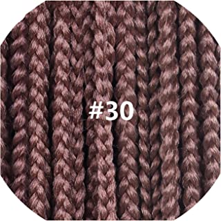 12 16 20 24 30 Inch 22strands/pack Crochet Braids Ombre Braiding Hair Crochet Box Braids Hair Synthetic Hair Extension,#30,30inches