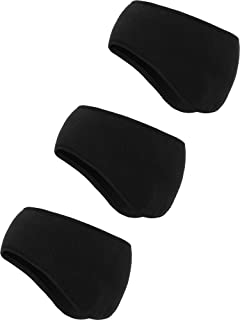 BBTO 3 Pieces Ear Warmer Headband Winter Headbands Fleece Headband for Women Men
