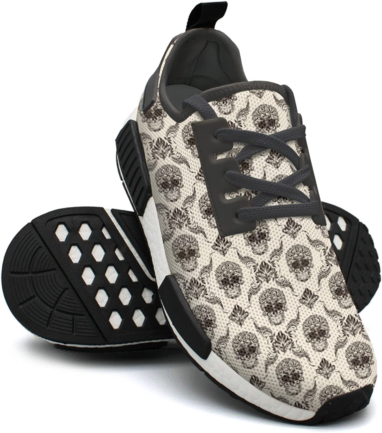Brown Skull Running shoes For Women Nmd Outdoor Sport shoes