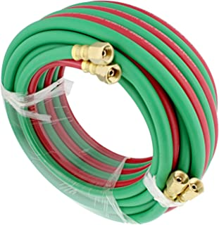 ABN Oxygen Acetylene Hose 1/4 Inch B Fittings Twin Welding Hose Oxy Acetylene Torch Hose Cutting Torch Hoses, 25 Foot