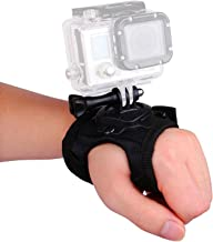 VVHOOY 360 Degree Rotation Glove Style Band Wrist Strap Mount with Screw Compatible with GoPro Hero 7 6 5 Black Session AKASO EK7000 Brave 4 Dragon Touch DBPOWER APEMAN EKEN Crosstour 4K Action Came