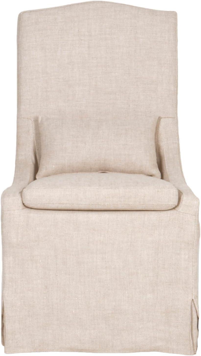 Slipcovered linen dining chair
