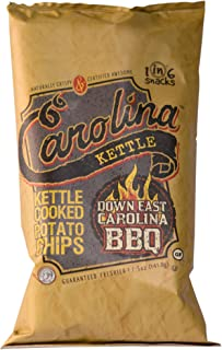 Carolina Kettle Kettle Cooked Potato Chips, Down East Carolina Bbq, 5 Oz