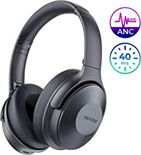 Mpow Active Noise Cancelling Headphones, Bluetooth Headphones Over Ear with 40H Playtime, Built-in Mic, Quick Charge, Wired/Wireless Headset for Travel, Online Class, Home Office, TV