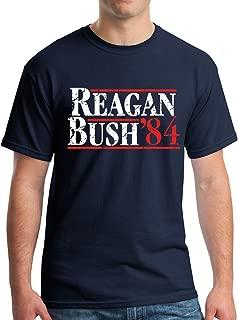 New York Fashion Police Reagan Bush 1984 Republican Presidential Election GOP T-Shirt - Vintage/Distressed