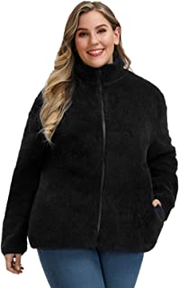 Hanna Nikole Women Plus Size Fleece Jacket Full Zip Lightweight Sweatshirt Coat