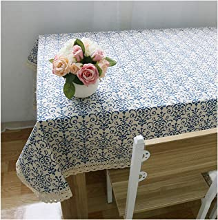 Lune Beans Christmas Snowflake Tablecloth Lace Tablecloth Red Cotton Tableware Wedding Banquet Tablecloth Washable Textile,A,4060Cm