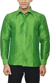 KENRICH Men's Silk Casual Shirt