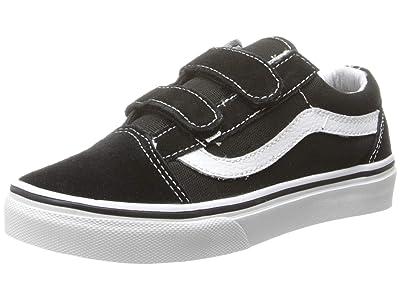 Vans Kids SINGLE SHOE Old Skool V (Little Kid/Big Kid) (Black/True White) Kid