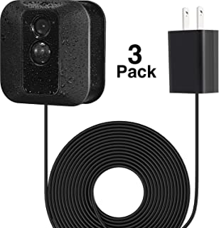 Power Adapter with 20 ft/6 m Weatherproof Cable for Blink Outdoor XT XT2/Indoor Home Security Camera, Continuously Operate Blink Security Camera, No Need to Change The Battery (3 Pack Black)