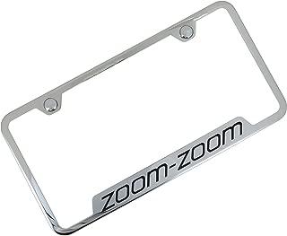 Mazda Zoom Zoom Stainless Steel License Frame