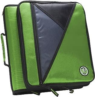 Case-it Universal Laptop Zipper Binder, O-Ring, 2 Inches, Green