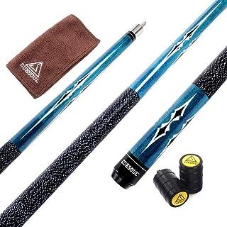 CUESOUL 58 Inch 19oz 1/2 Maple Billiard Stick Pool Cue Set 11.5mm/13mm Tip[Weight Adjustable]