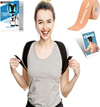 Winama Posture Corrector for Men and Women – Bonus Free Ebook, Kinesiology Tape – Back Support Brace, kyphosis, Clavicle Brace – Adjustable, Comfort and Invisible