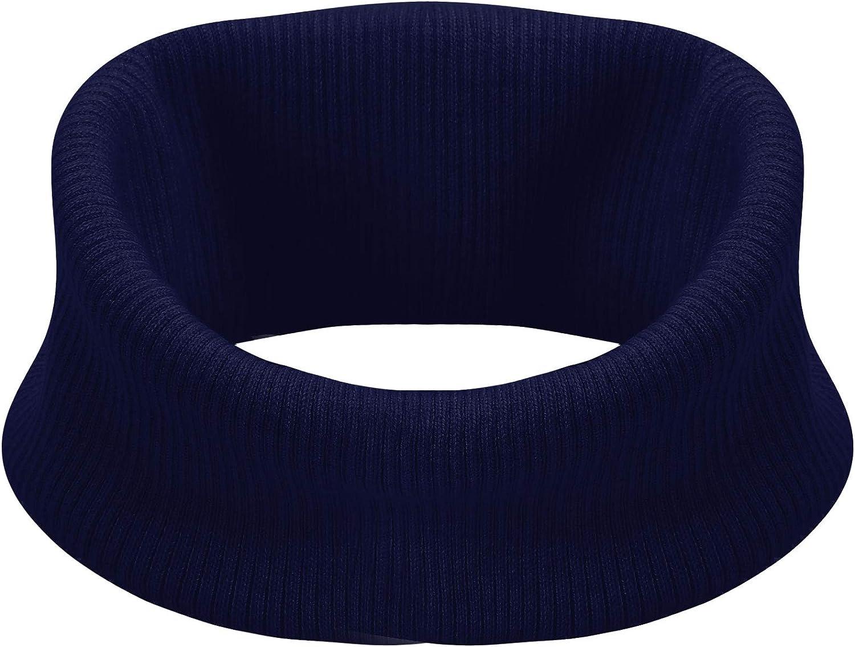 JEATHA Unisex Cashmere Knitted Detachable Neckerchief Mock Turtleneck Fake Collar Winter Neck Warmer Winter Loop Scarf