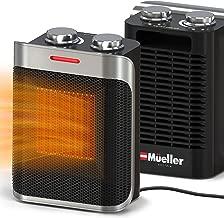 Mueller Portable Heater 750W/1500W Ceramic Space Heater, High Output Fan, Adjustable..
