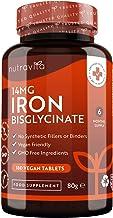 Bisglicinato de hierro 14 mg – 180 comprimidos veganos – Contribuye al funcionamiento adecuado del sistema inmunitario – Sin rellenos sintéticos – Suministro para 6 meses – Elaborado por Nutravita