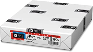 NCR Paper Straight Paper, 3-Part, 92GE, 8-1/2