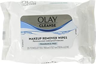 Olay Make-Up Remover Towelettes 25 Count Fragrance Free (3 Pack)