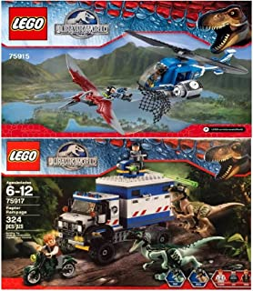 LEGO Jurassic World Pteranodon Capture & Raptor Rampage 75915,75917 Building Collections 2015